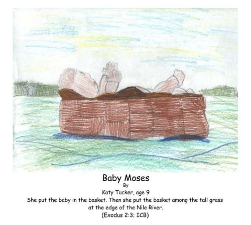 baby, Moses, Exodus, Bible, Nile, River, basket