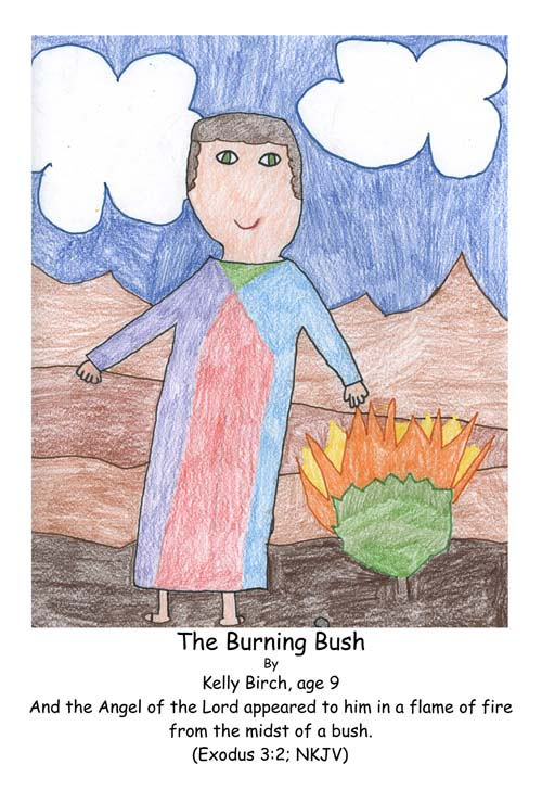 burning bush, Moses, Bible, God, Exodus
