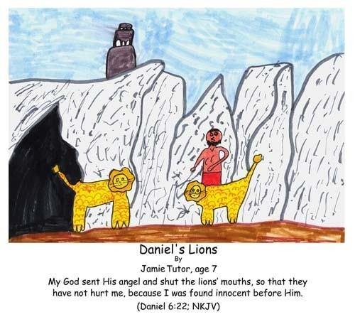 Daniel, Bible, God, lions, den, innocent