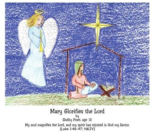 Luke, God, Jesus, Mary, glorify God, Magnificat, my soul magnifies the Lord, my spirit has rejoiced in God my Savior
