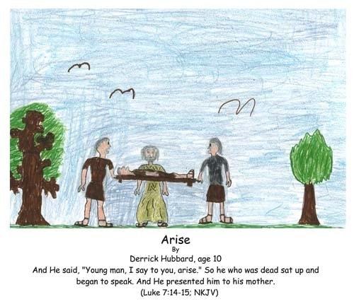Luke, Bible, God, miracle, dead, resurrected, Jesus, arise, mother,