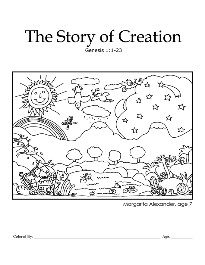 Kids Color Me Bible – Chapter 1 – The Story Of Creation