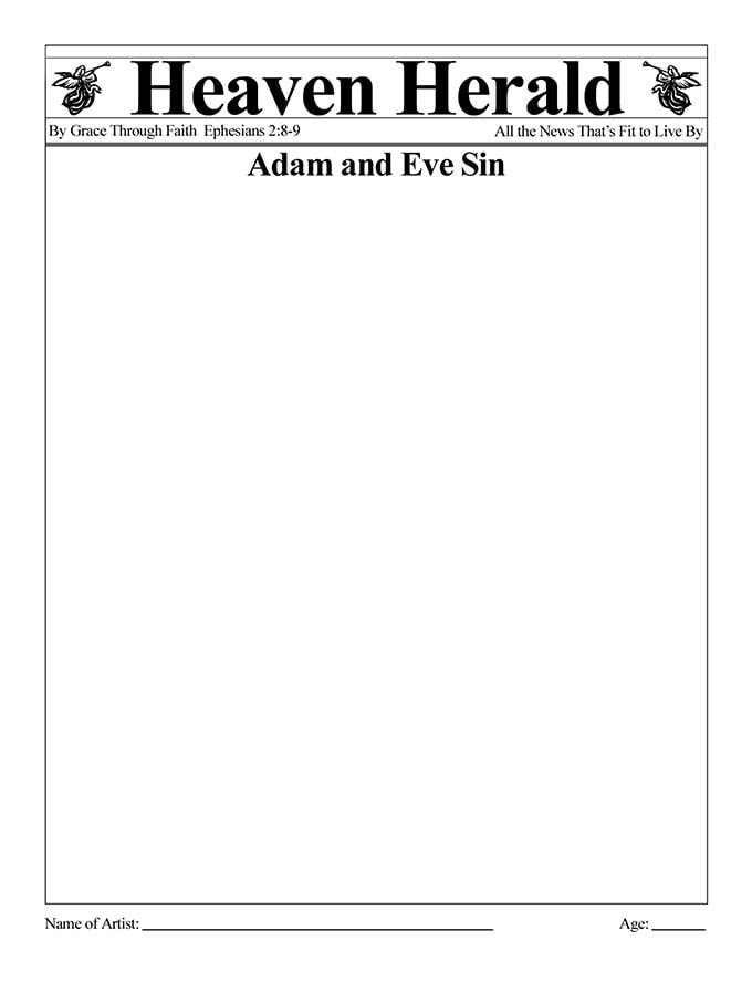 Kids Color Me Bible – Chapter 3 – The First Sin
