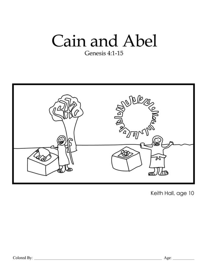 Kids Color Me Bible Chapter 4 Cain And Abel Kids Talk About God