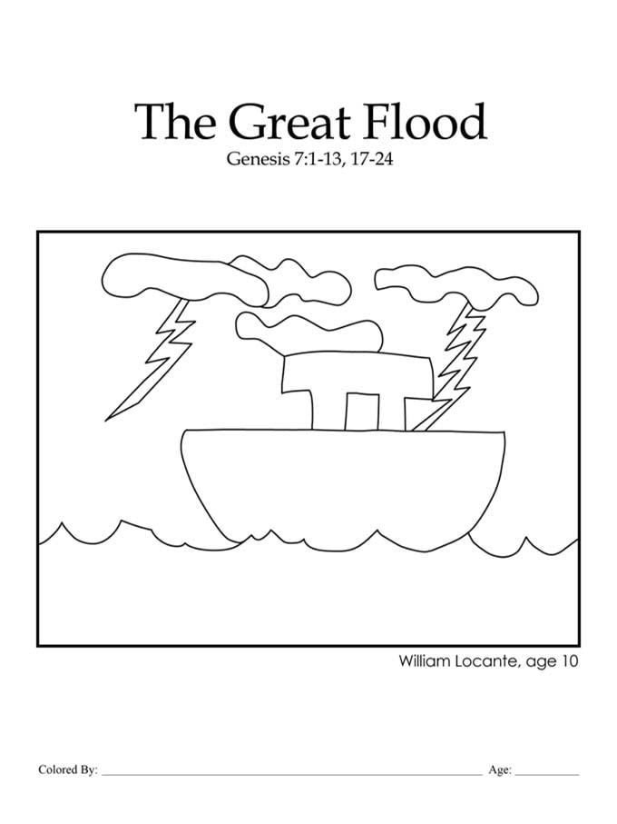 Kids Color Me Bible – Chapter 5 – The Great Flood