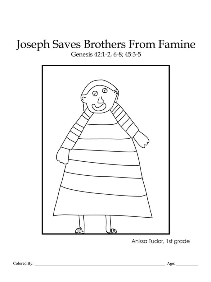 Joseph's Coat of Many Colors coloring page