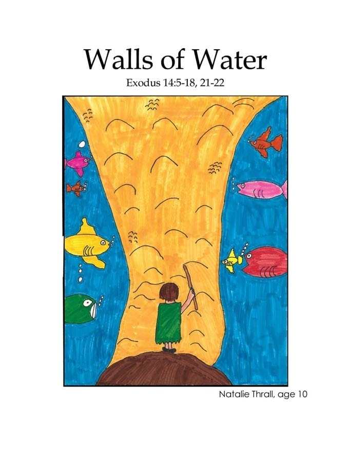Chapter 12 cover: Moses parting the Red Sea