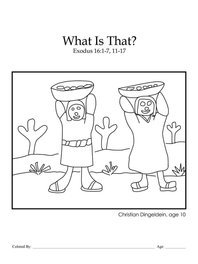 Chapter 13: Manna, What Is That? coloring page