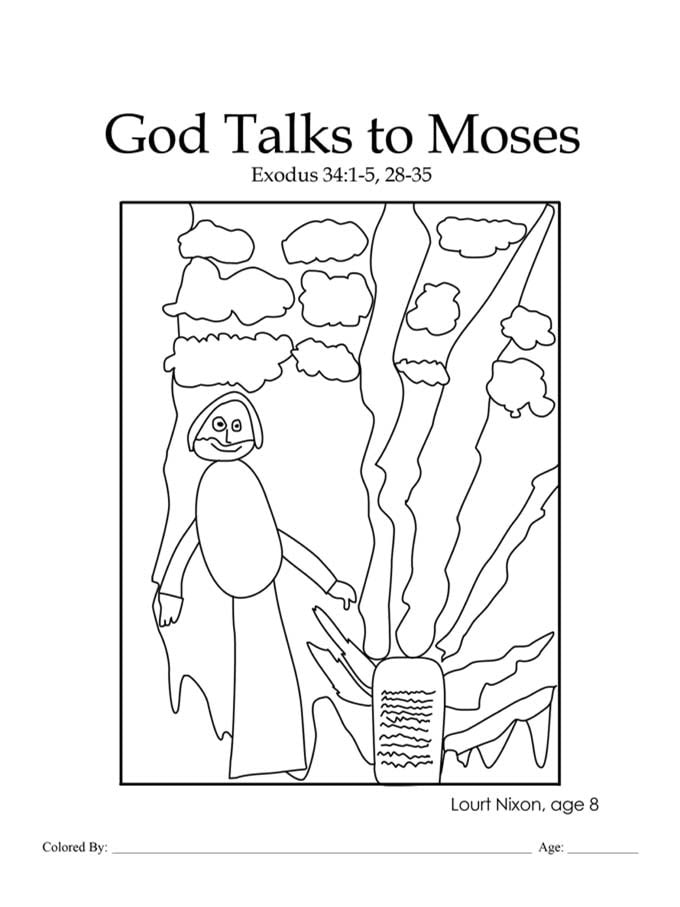 Chapter 16: God Talks to Moses coloring page