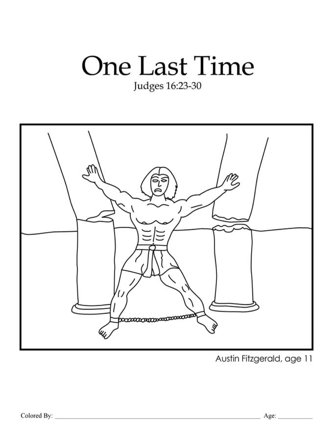 Chapter 18: Bible coloring page about Samson