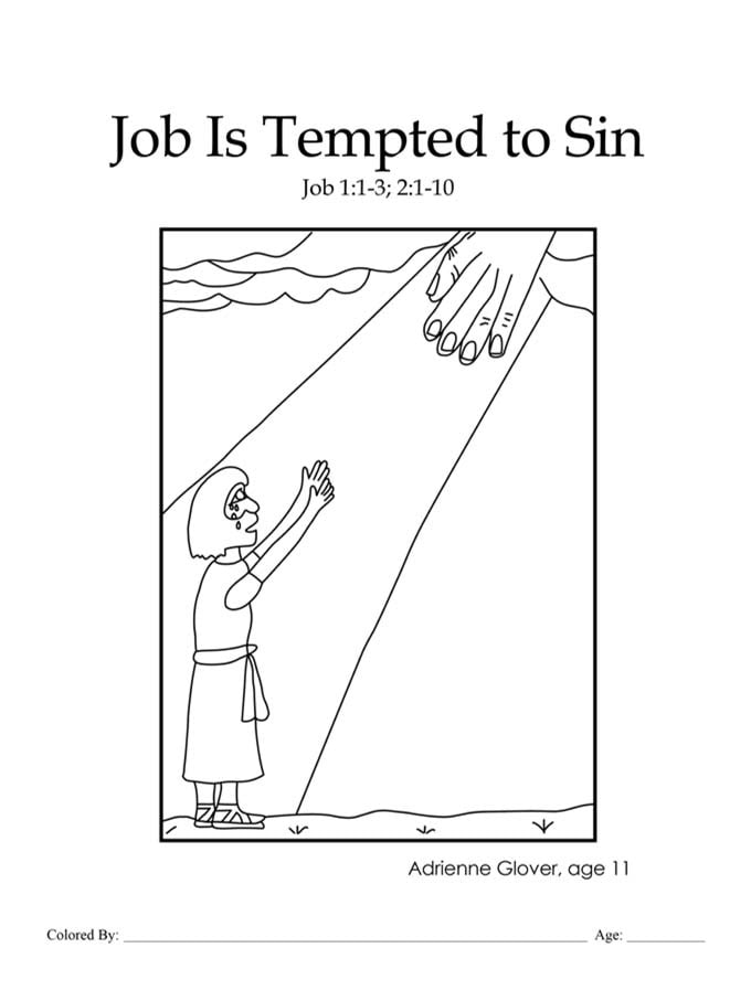 Chapter 27: Bible coloring page about Job