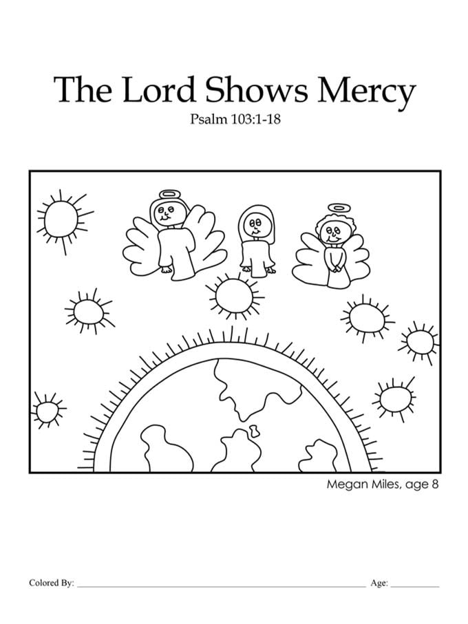 Chapter 28: Bible coloring page on Psalm 103