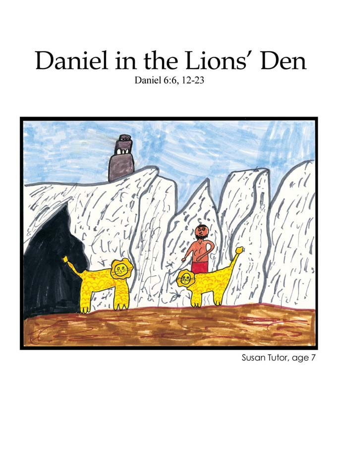 Chapter 32 cover: Daniel in the Lions' Den