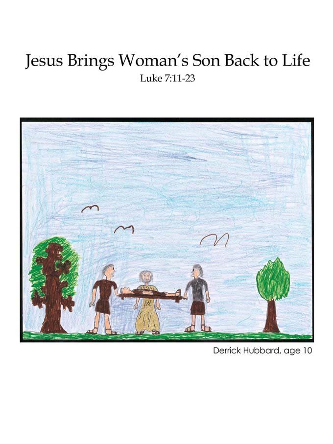 Chapter 39 cover: Jesus Brings a Woman's Son Back to Life