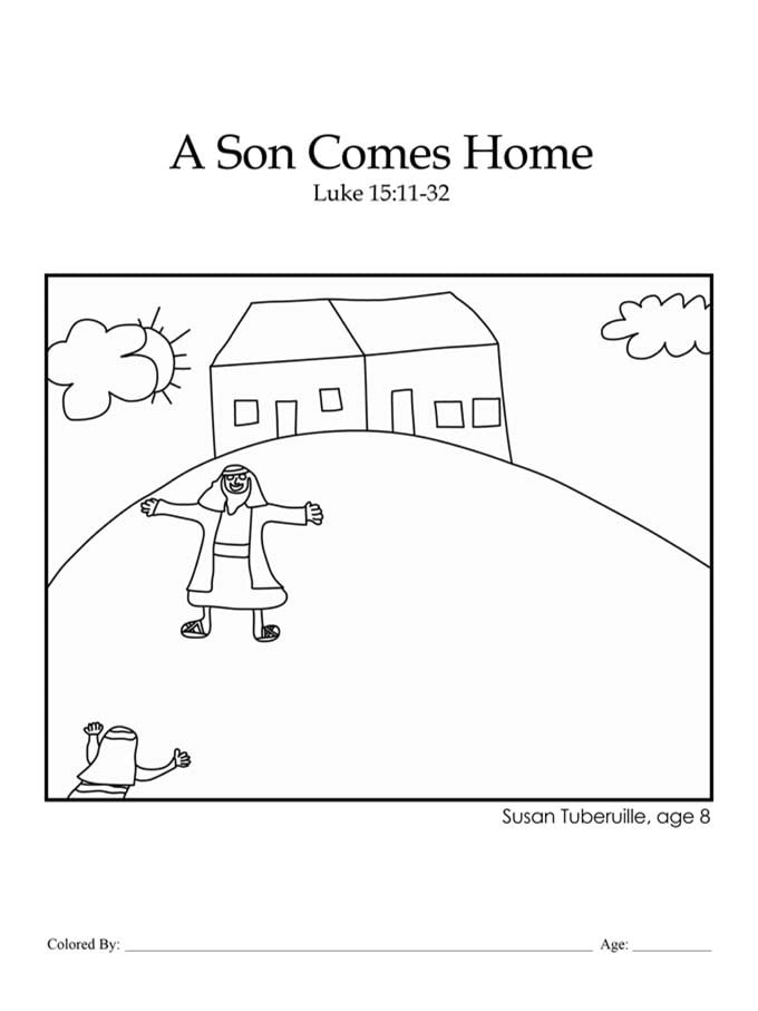 Chapter 41: Bible coloring page of the Prodigal Son