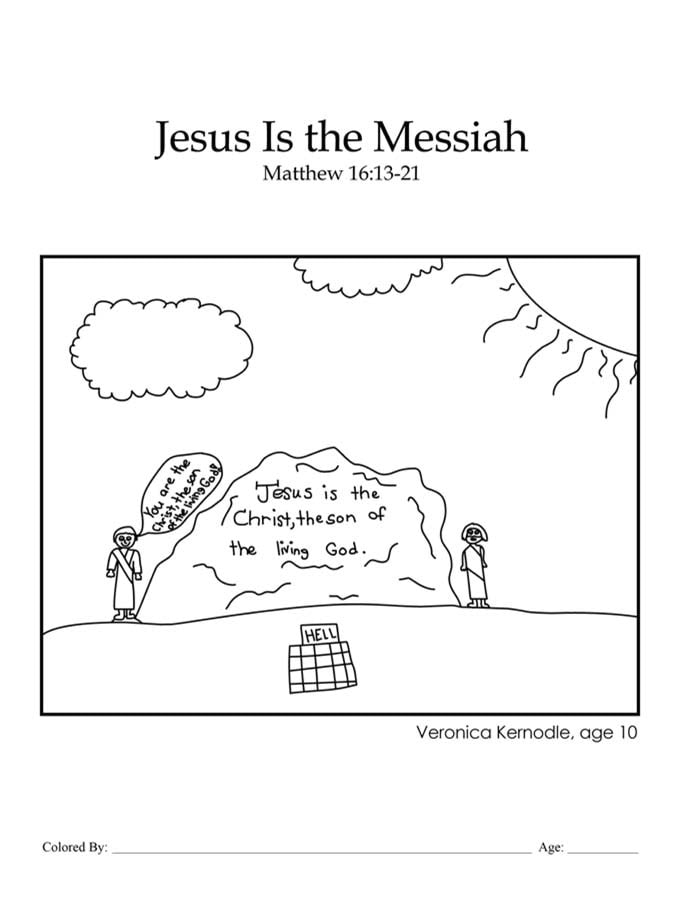 Chapter 43: Bible coloring page Jesus is the Messiah