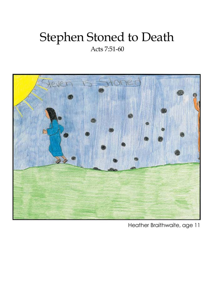 Chapter 54 cover: Stephen Stoned to Death