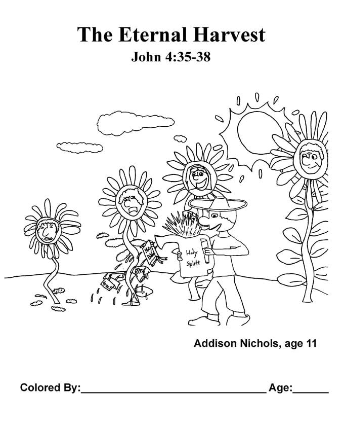 Chapter 19 Bible coloring page: The Eternal Harvest