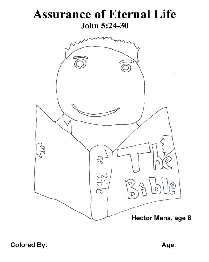 Chapter 24 Bible coloring page: Assurance of Eternal Life