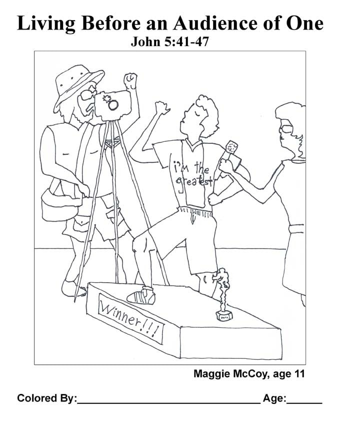 Chapter 26 Bible coloring page: Living Before an Audience of One