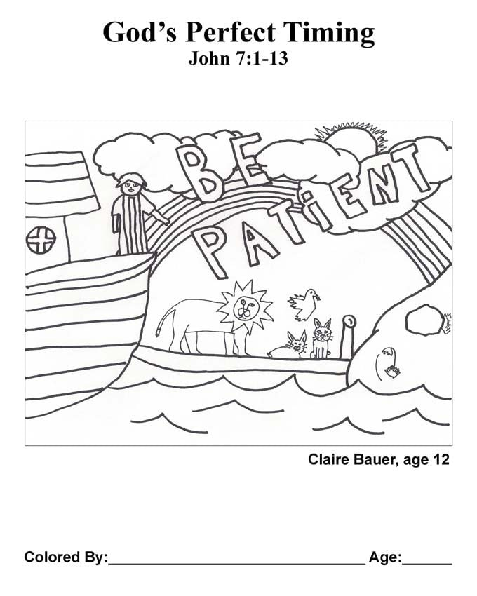 Chapter 33 Bible coloring page: God's Perfect Timing