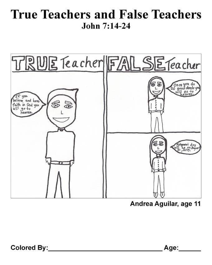 Chapter 34 Bible coloring page: True Teachers and False Teachers