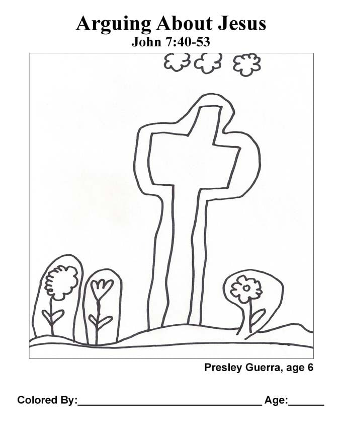 Chapter 37 Bible coloring page: Arguing About Jesus