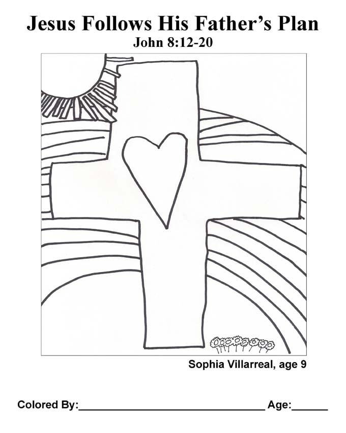 Chapter 39 Bible coloring page: Jesus Follows His Father's Plan