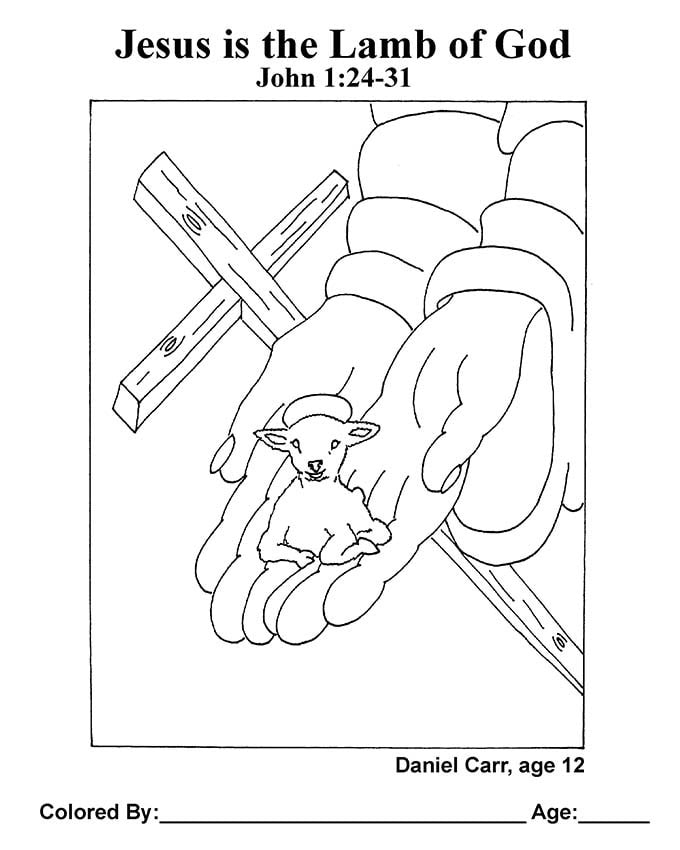Lamb of God Easter Coloring Page | Easter coloring pages ... | 850x680