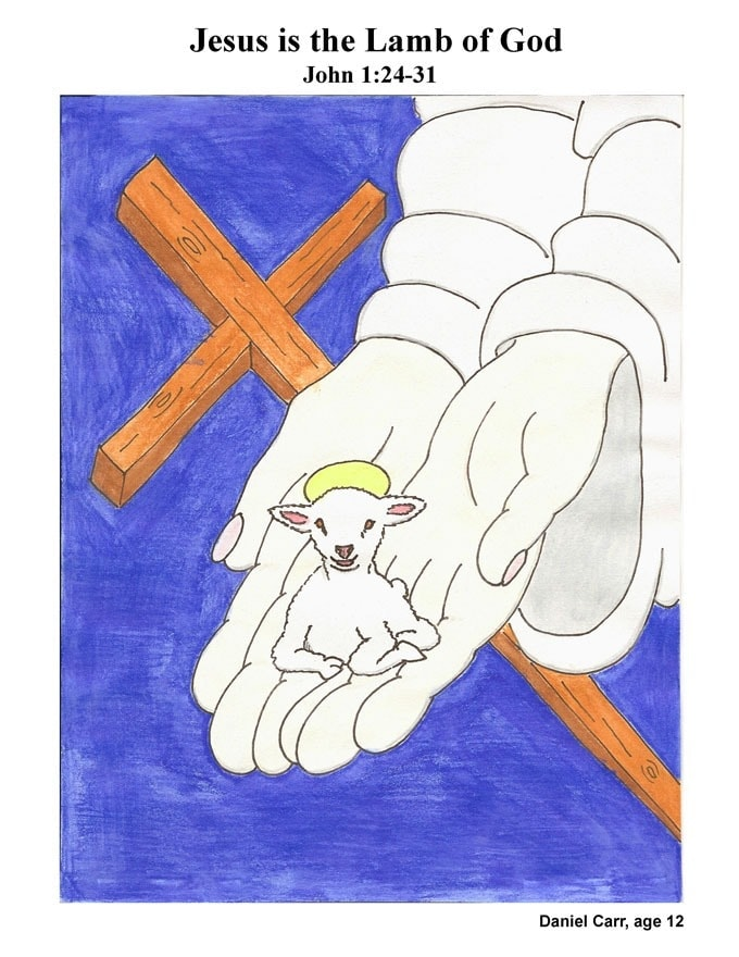 Chapter 05 cover:; Jesus is the Lamb of God