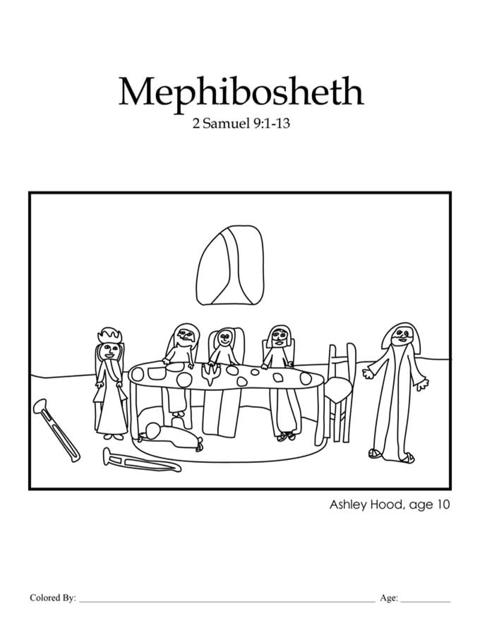 Chapter 22: Bible coloring page of Mephibosheth