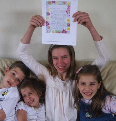 Alexandria's siblings celebrate with her!