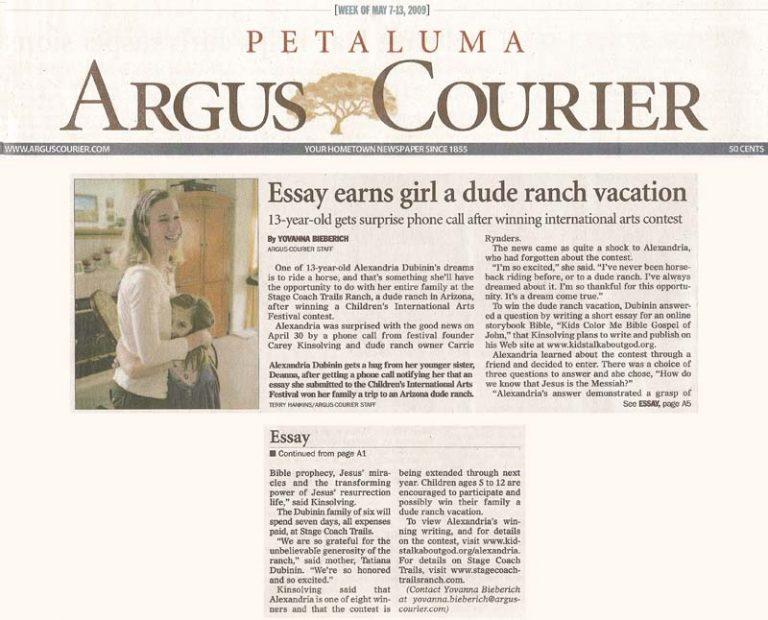 ARTICLE: Petaluma Argus Courier
