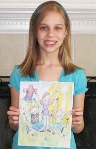 Amber and her winning art