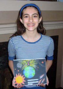 Brianna and her winning art
