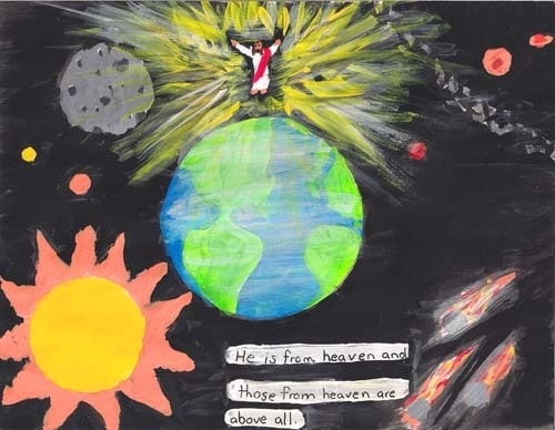 Brianna's Artwork: God the Father gave Jesus power over everything.