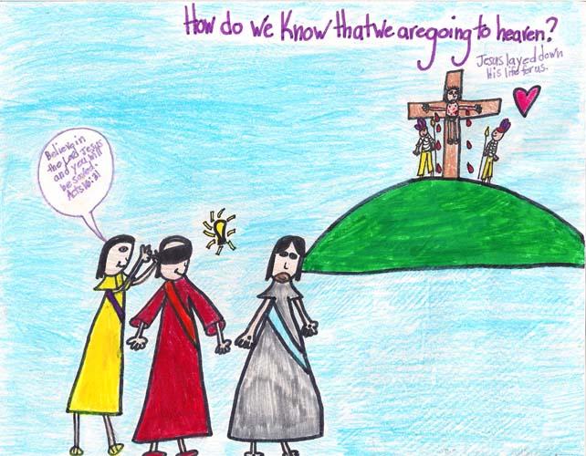 Caroline's Artwork: How do you know you're going to Heaven?
