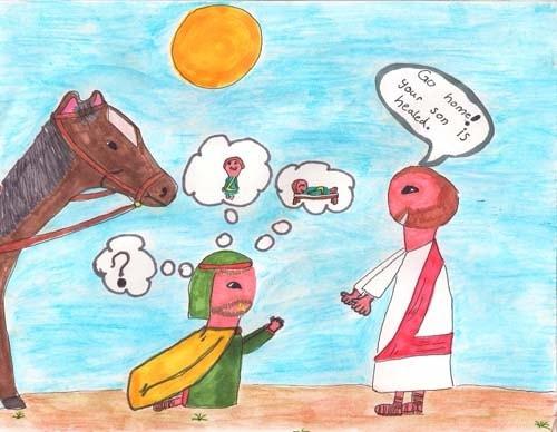 Reecie's Artwork: Jesus Heals a Nobleman's Son