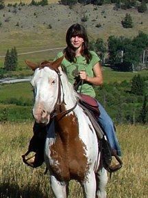 Clarissa riding at Sweet Grass Ranch
