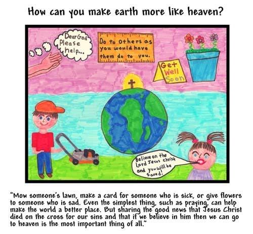 WINNING ART/WRITING: How Can You Make Earth More Like Heaven?