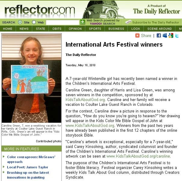 ARTICLE: Greenville Daily Reflector