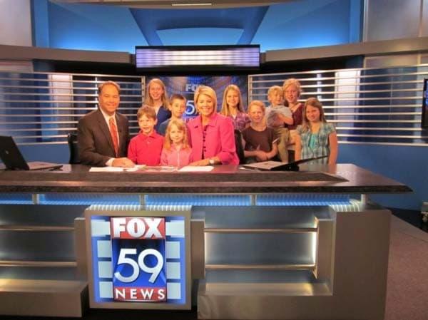 At the Fox 59 News Set