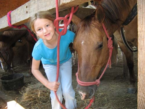Sofia loved her horse!