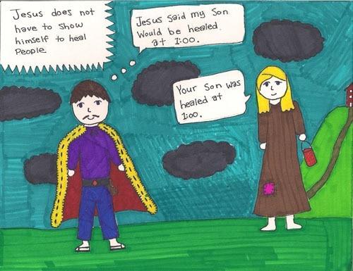 Lydia's Artwork: Jesus Heals a Nobleman's Son