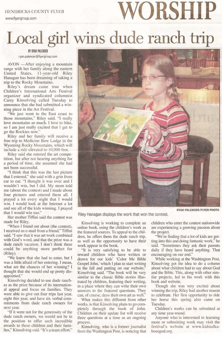 Article in the Hendricks County Flyer