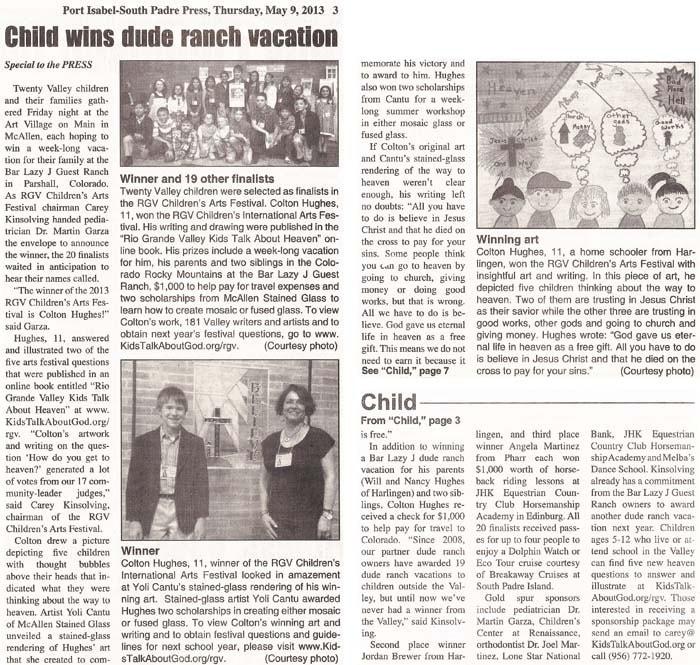 ARTICLE: Port Isabel-South Padre Press