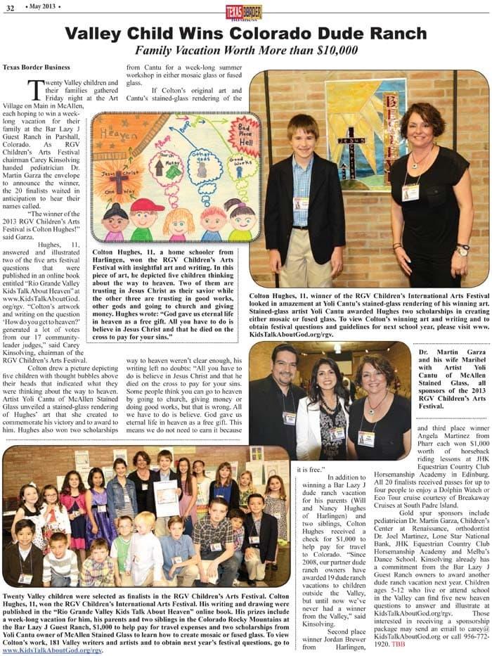 2012-13 RGV Children's Arts Festival Winner: Colton Hughes