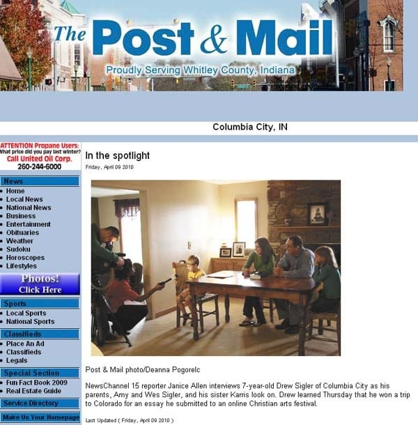 ARTICLE: The Post and Mail website