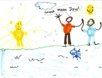 Artwork by Wyatt Stulac: Jesus Invites His First Disciples