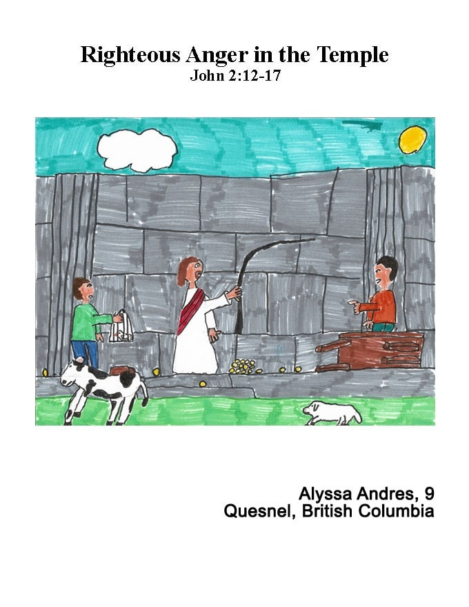 Alyssa's winning art: Driving the Moneychangers Out of the Temple